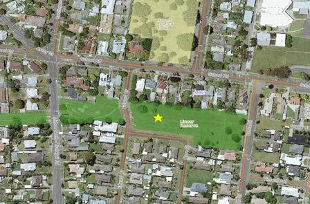 Overhead map of Hollydell Park.