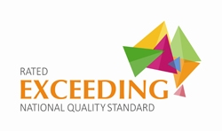 Rating badge, rated 'exceeding national quality standard'